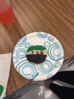 Nora T. just finished decorating her Free Syrian Flag