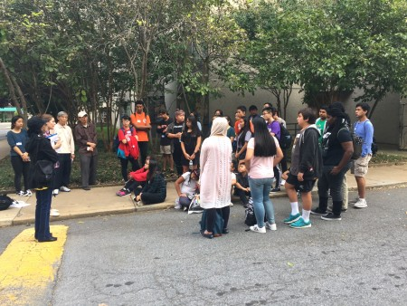 AALEAD youth speaking with Museum Square residents